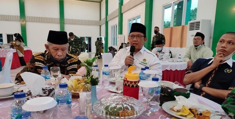 dr. Aditya (ketua) didampingi Heri Sensus tadi sekretaris DPW LDII Provinsi Lampung turut hadir dalam acara tersebut.