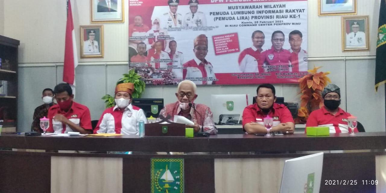Gubri Buka Muswil Pemuda LIRA Riau Ke-1 di RCC Pemprov dan Dihadiri Presiden LIRA