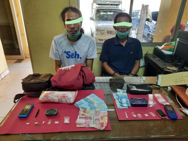 Lagi-Lagi , 2 Orang Pengedar Narkoba kembali diringkus Satnarkoba Polres Kuansing