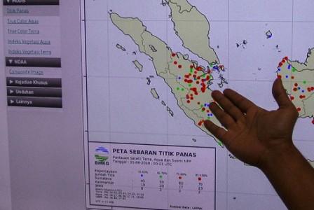 BMKG Deteksi 16 Titik Panas di Pulau Sumatera, Dua ada di Riau