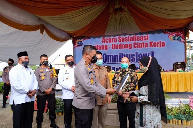 Kapolda Riau Hadiri Sosialisasi UU Omnibuslaw Cluster Ketenagakerjaan