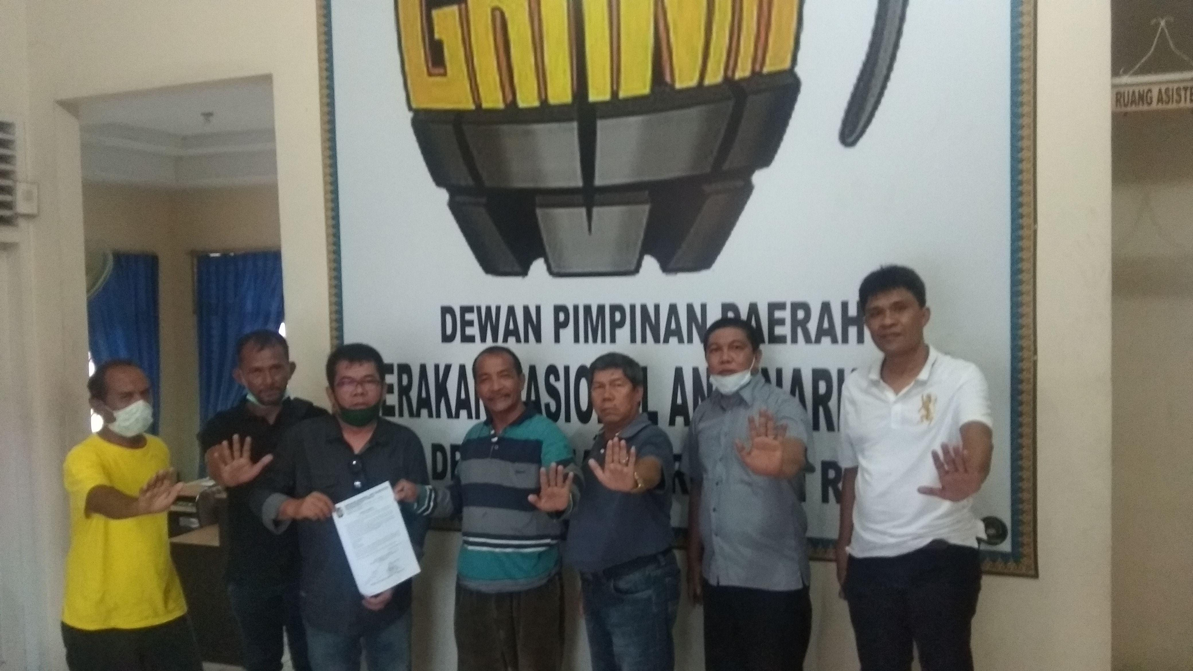 DPD Granat riau serahkan Surat Mandat Pembentukan DPC Granat Kab INHU
