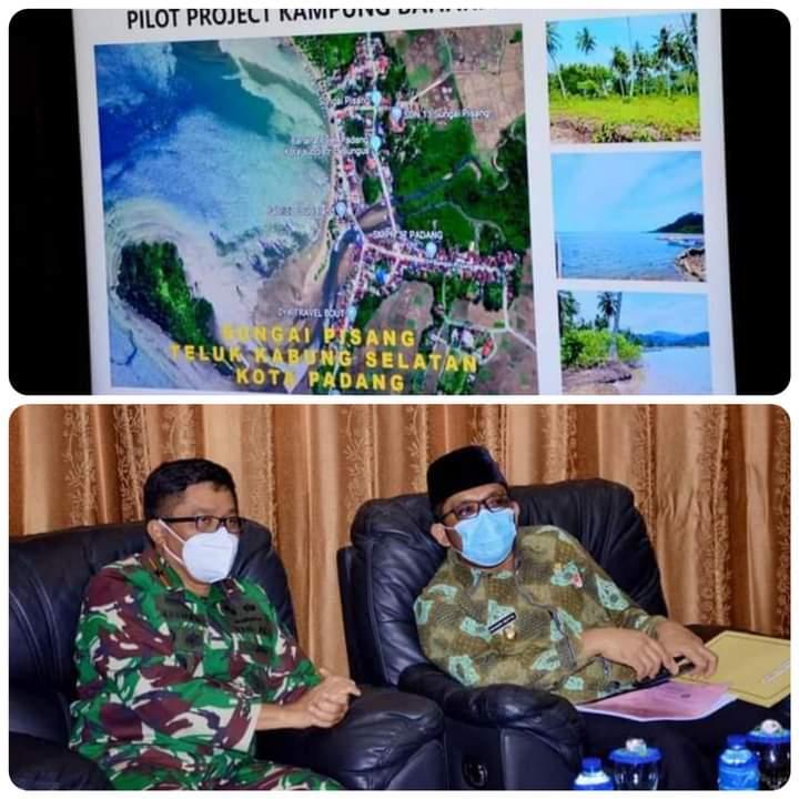 Plt Wako Hendri Septa dan Lantamal II Padang Bahas Pembuatan Kampung Bahari Nusantara