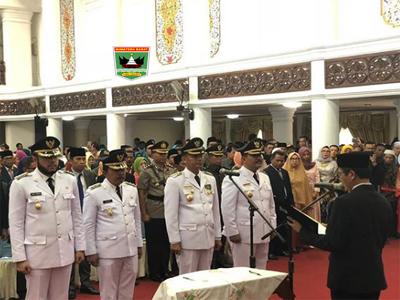 Gubernur Sumbar Lantik Walikota-Wakil Walikota Pariaman dan Padang Panjang