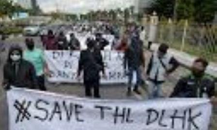 Pekanbaru Krisis Sampah, Para Mantan Pekerja DLHK Turun ke Jalan