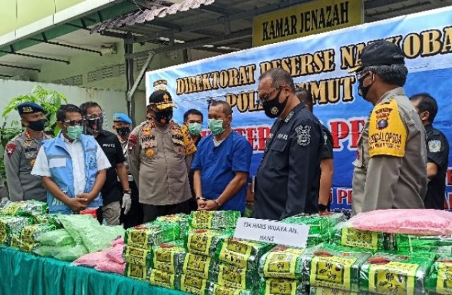 Polisi Sumut Gagalkan Peredaran 100 kg Sabu-sabu, 50.000 Pil Ekstasi