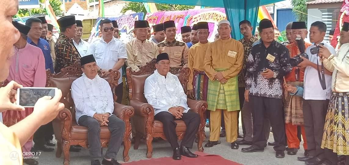 Drs H Syamsuar – Brigjen TNI (Purn) Edy Natar Nasution, menghadiri Syukuran Masyarakat Rokan Hulu