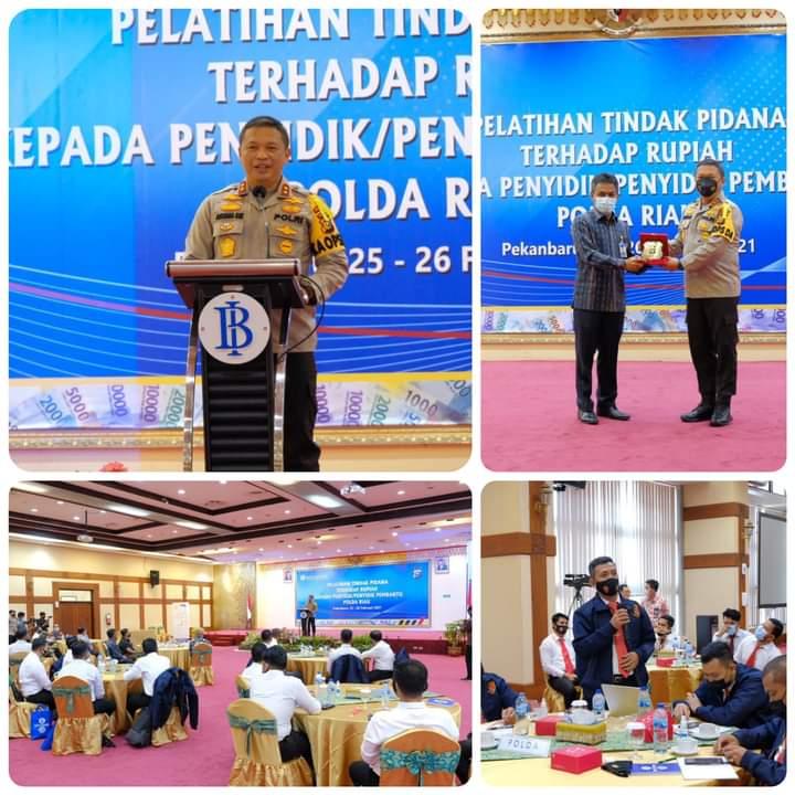 Krimsus Polda Riau dan BI Gelar Pelatihan Tindak Pidana Terhadap Uang Rupiah