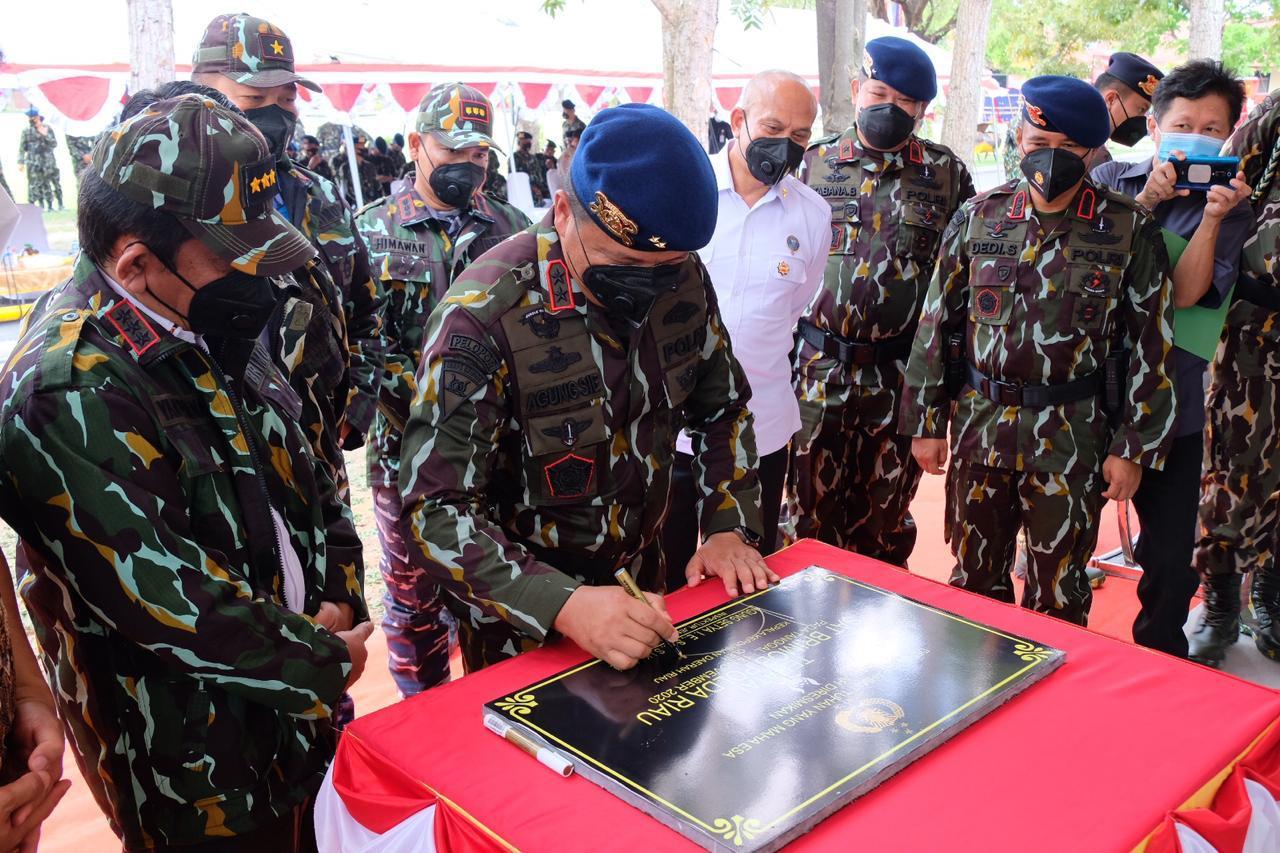 Kapolda Riau Resmikan Gedung Baru Sempena HUT Korps Brimob ke-75