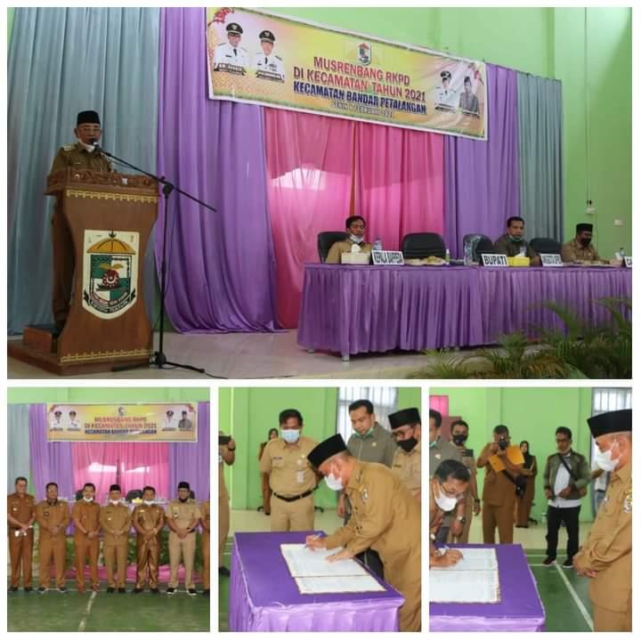 Bupati HM Harris Buka Musrenbang RKPD Tingkat Kecamatan Bandar Petalangan