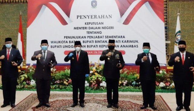 Pjs Gubernur Kepri Lantik 5 Pjs Bupati/Walikota