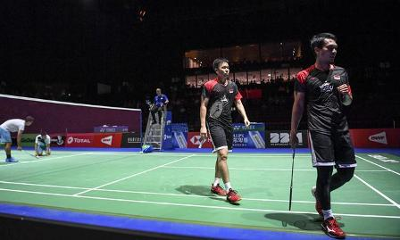 Hendra - Ahsan Juara Ganda Putra Juara Kejuaraan Dunia Badminton