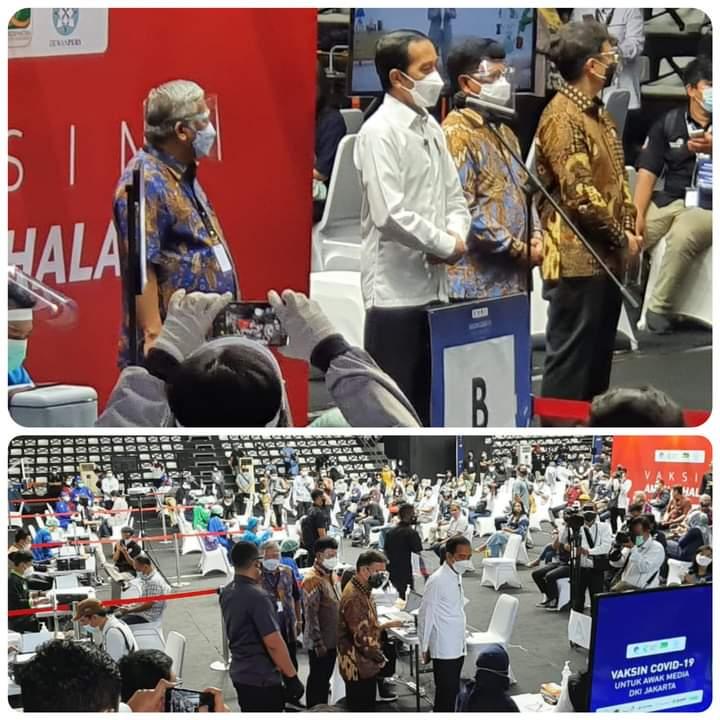 Presiden Jokowi Sampaikan Alasan Awak Media Diberi Vaksin Covid-19  Karena Termasuk Pelayan Publik