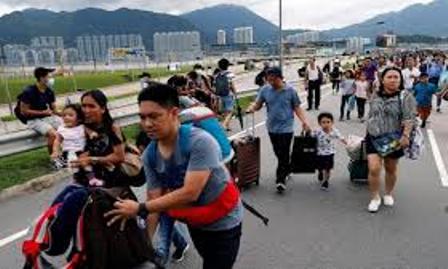 Aksi Pengacau di Bandara Hong Kong Untuk Kacaukan Perjalanan