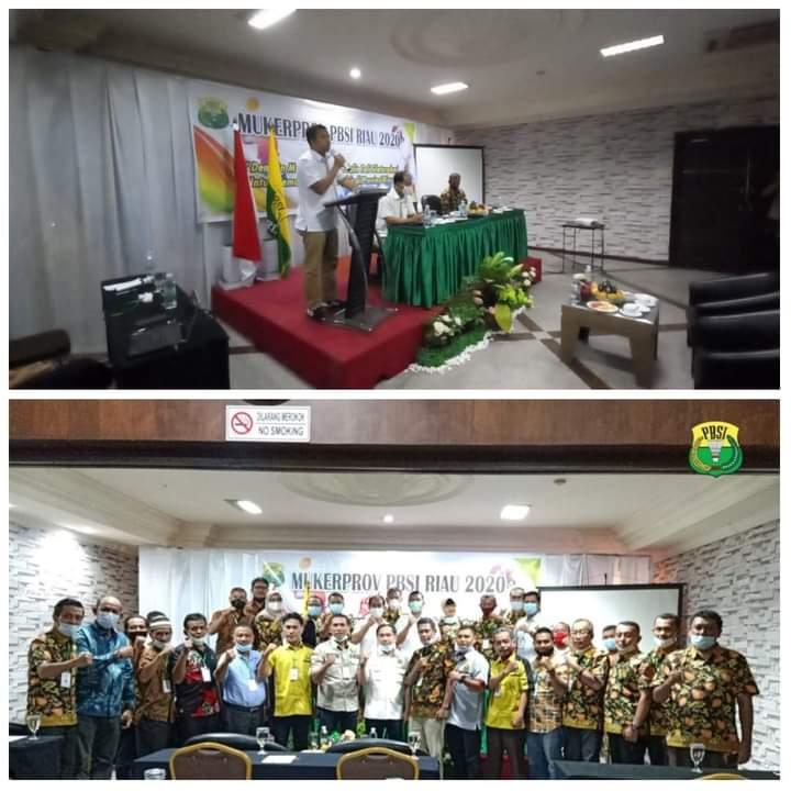 Dukung Penuh Perkembangan Bulutangkis Riau, Ini Pesan Kadispora Saat Mukerprov PBSI