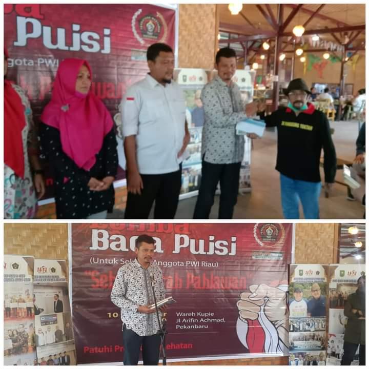 PWI Riau Sukses Gelar Ajang Lomba Puisi Antar Wartawan, Abdul Kadir Bey Raih Juara Pertama