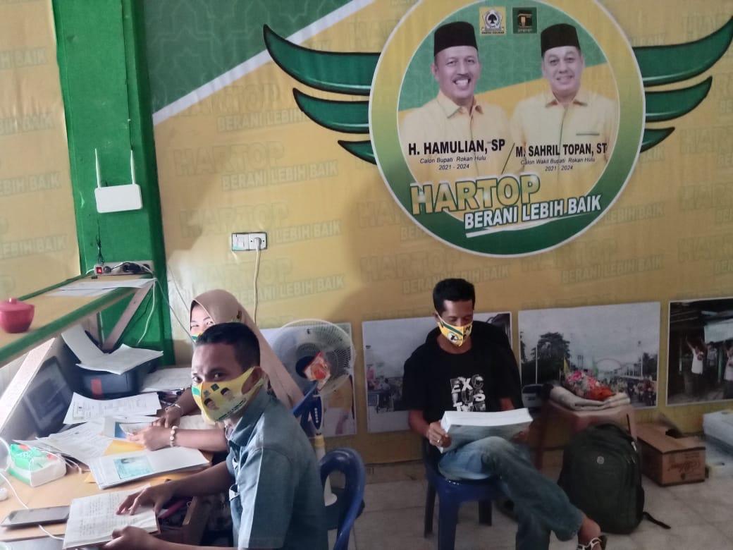 Antusias Tinggi, Sebanyak 15 Titik  Sekaligus Kampanye Paslonbup-Wabup  Rohul H Hamulian-M Sahril To