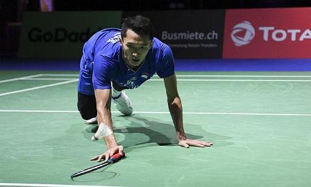 Jonatan Gagal Raih Kemenangan Dunia Badminton