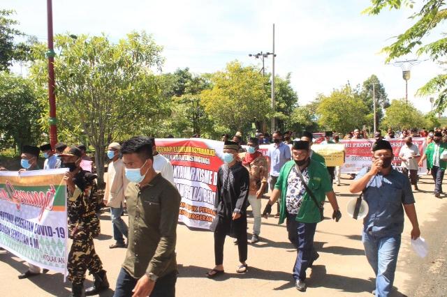 Tolak Aksi Unjuk Rasa Anarkis Sejumlah Elemen Masyarakat Kuansing Deklarasi Damai turun ke Jalan