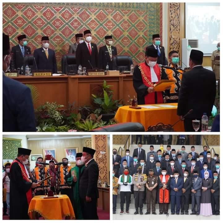 Baharuddin SH Jabat Ketua DPRD Pelalawan Sisa Jabatan 2019-2024