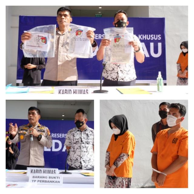 Dua Oknum Pegawai Bank di Pekanbaru Ditangkap Gelapkan Dana Nasabah Rp 1,3 Miliar