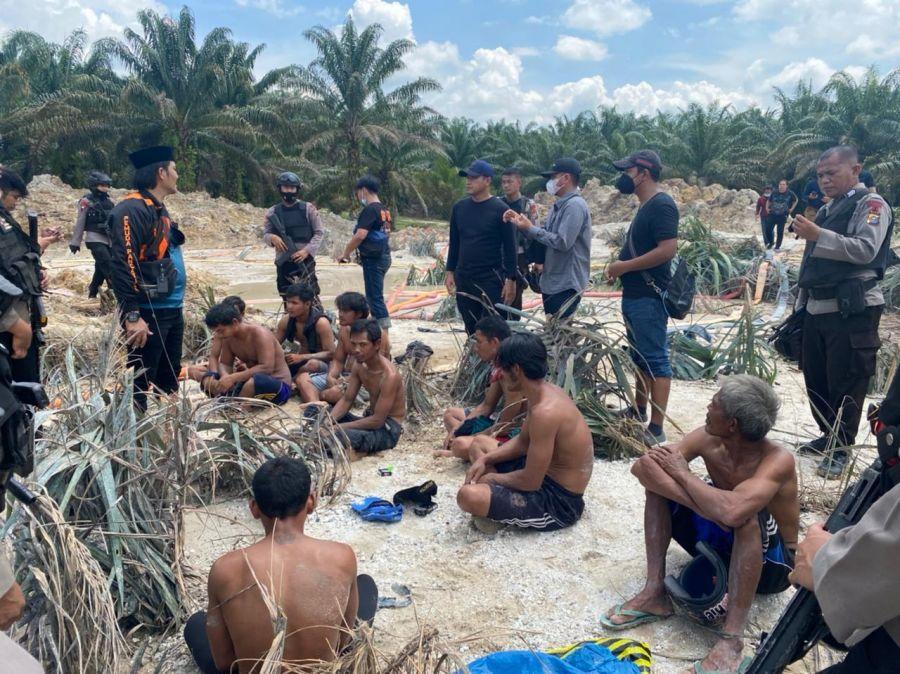 Polda Riau Gulung 11 Pelaku Tindak Pidana PETI Di Kuansing