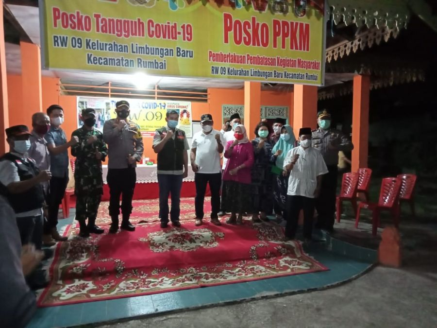 Wali Kota dan Forkopimda Melakukan Pengecekan Posko PPKM yang Ada di Polsek Rumpes