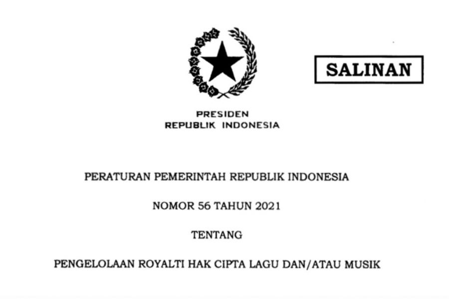 Presiden Jokowi Keluarkan PP 56/2021 tentang Pengelolaan Royalti Hak Cipta Lagu dan Musik