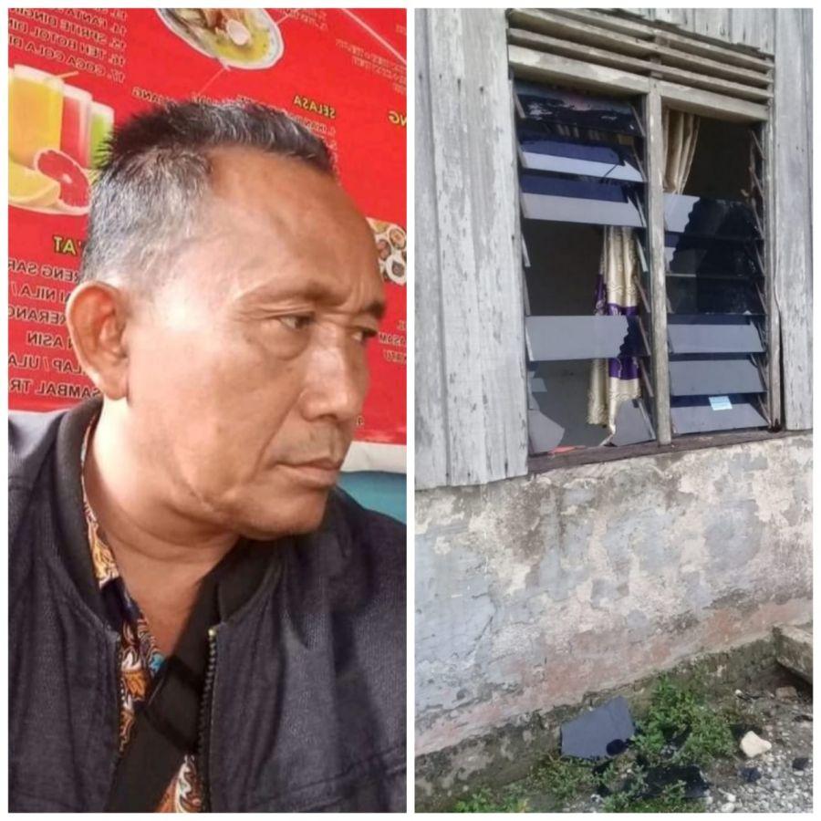 Rumah Wartawan Di Pelalawan Dilempar OTK Tengah Malam