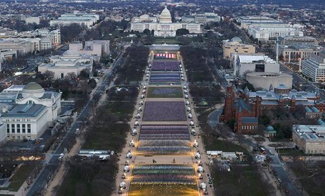 Hari Pelantikan Joe Biden, Washington DC Bak Kota Hantu dan Kamp Militer