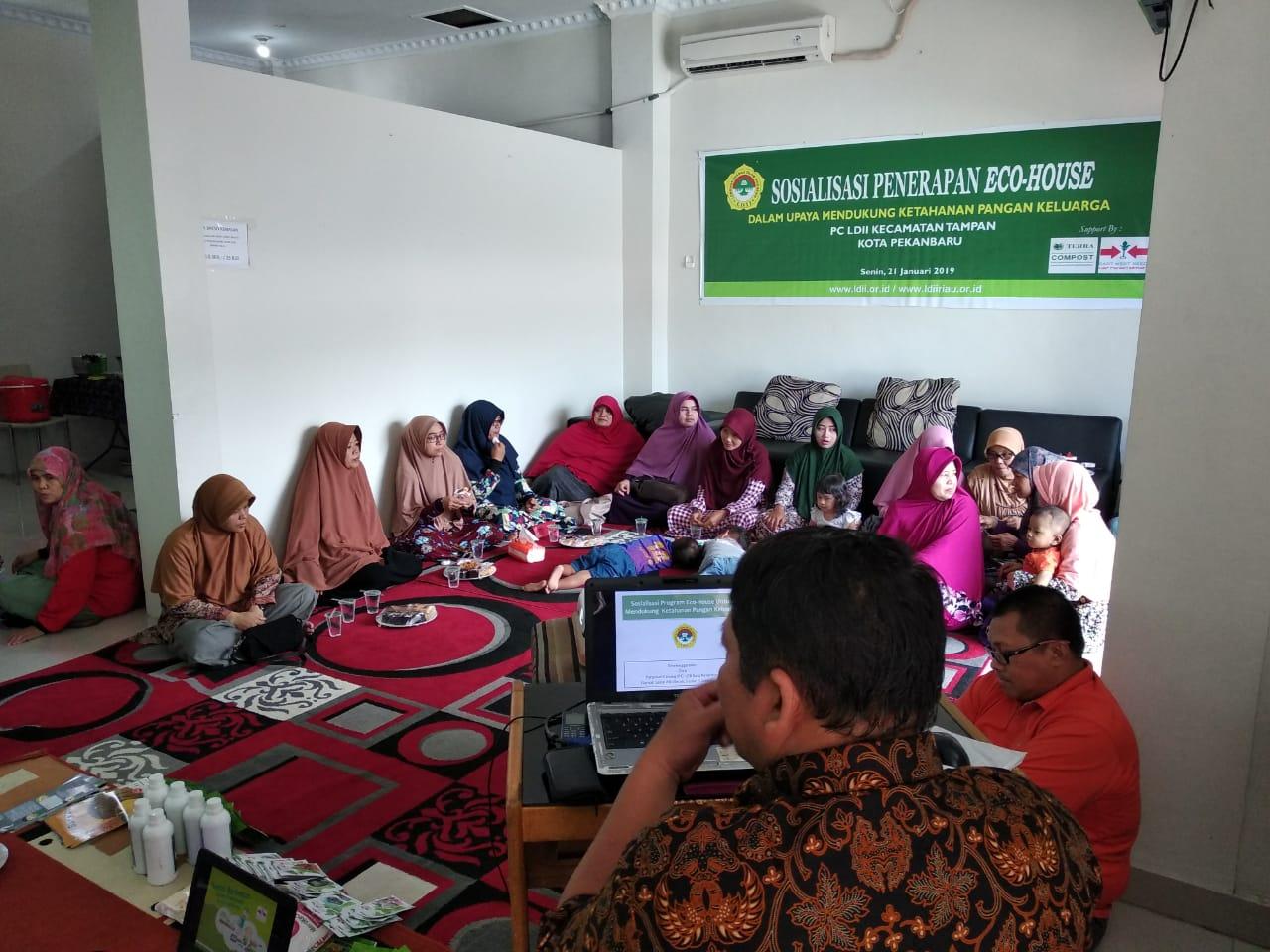 LDII Riau Sosialisasi Penerapan Eco-House Bersama PT Ewindo dan Terra Compost