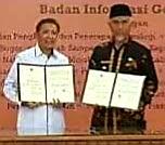 Wali Kota Padang Mahyeldi Tandatangani MoU Informasi Geospasial