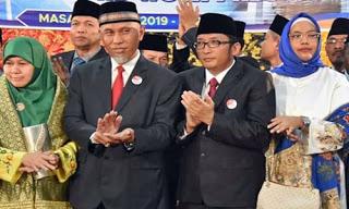 Wali Kota Padang Mahyeldi menyampaikan harapan masyarakat Kota Padang kepada wakilnya di lembaga leg