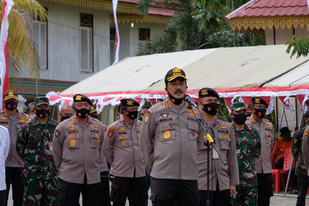 Kabaharkam Polri Pimpin Apel Kesiapsiagaan Satgas Dan Relawan.