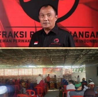 Ditengah Wabah Corona, Relawan Effendi Sianipar Bagi Sembako ke Warga