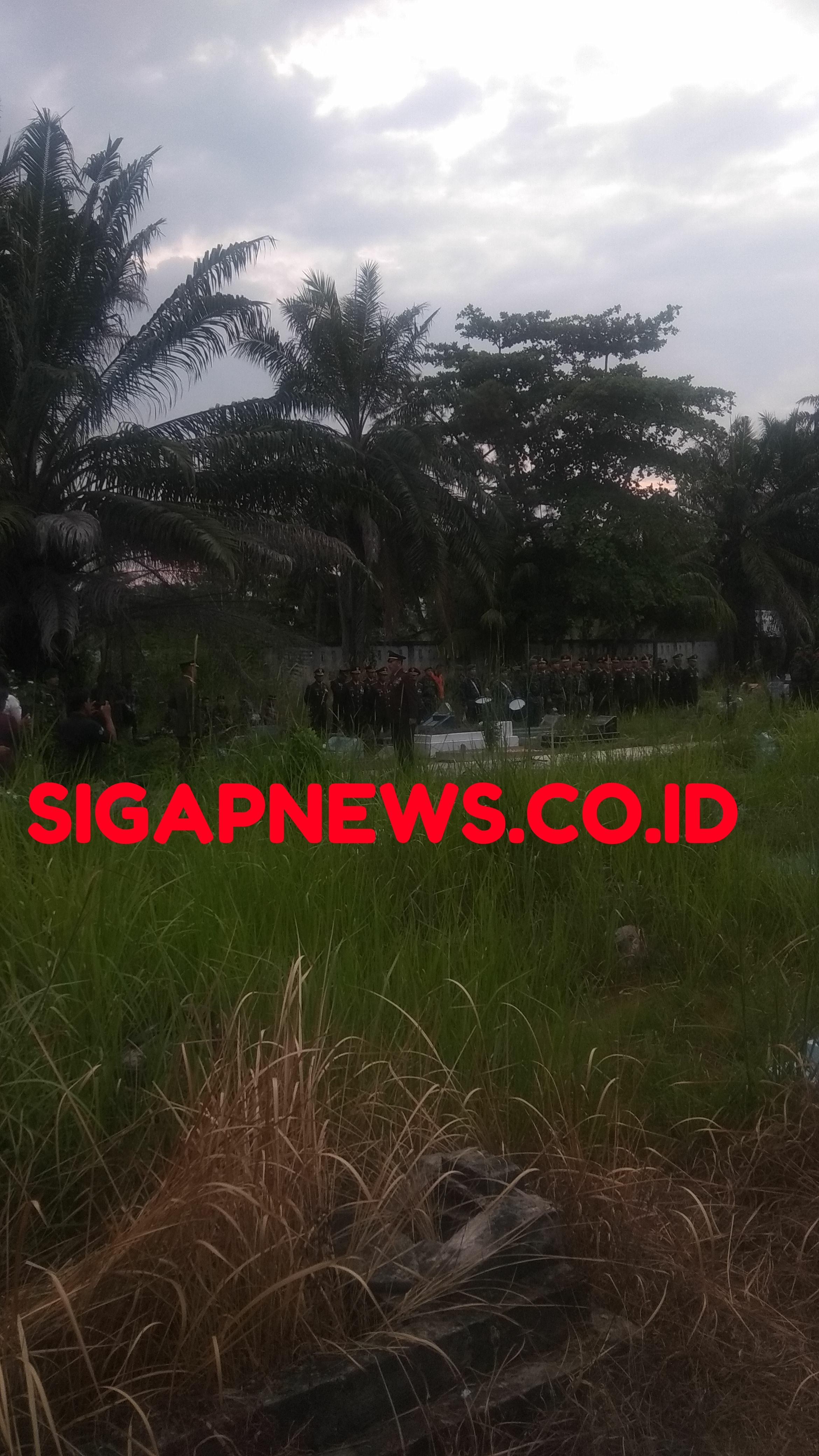 Danrem 031/Wirabima Brigjend TNI Muhammad Fajar Pimpin Upacara Militer Kapten Inf Sabar Riswanto