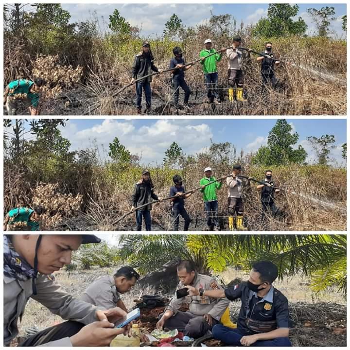 LBH Brata Jaya Riau bersama Polri dan TNI Ikut Berjibaku Padamkan Bibit Bara Api di Pelalawan