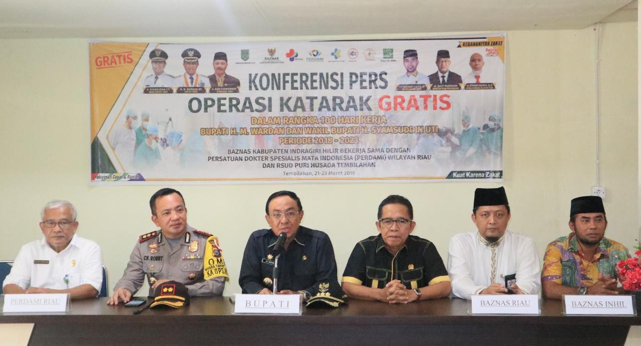Bupati Inhil Hadiri Pembukaan Operasi Katarak Gratis Di RSUD Puri Husada