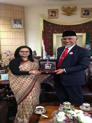 Konsulat Jenderal India-Wako Padang Tindak Lanjuti Program Sister City