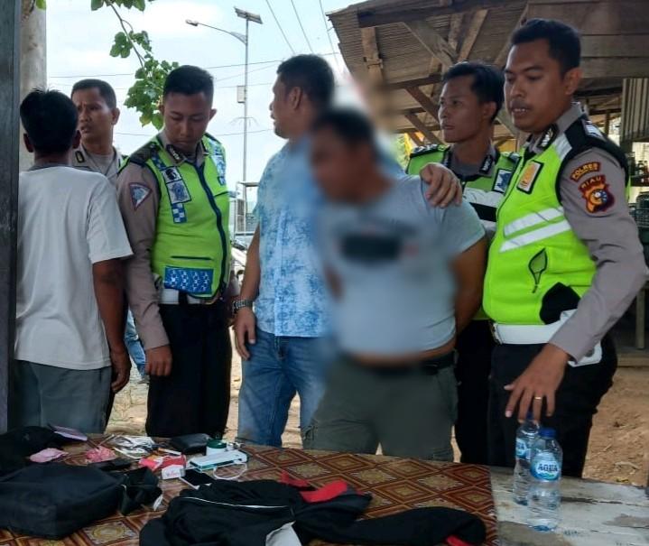 Polsek Kemuning Temui Pengendara Bawa Narkoba, Saat Operasi Patuh 2019