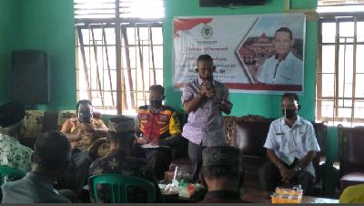 Politisi Gerindra Ini dengarkan Keluhan Warga di Desa Sungai Bela Kabupaten Inhil