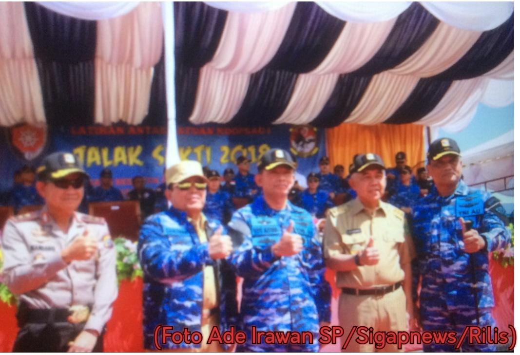 Kapolda Riau Hadiri Kegiatan Kunjungan Kerja KSAU Marsekal TNI Di Rohul