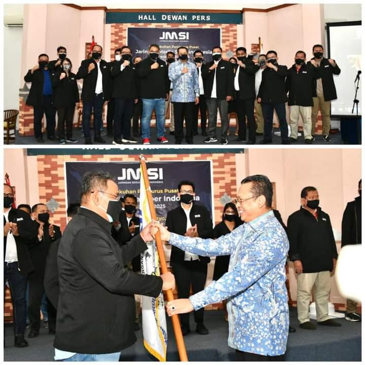 Ketua MPR RI Bamsoet Lantik Pengurus Pusat JMSI dan Menaruh Harapan Besar