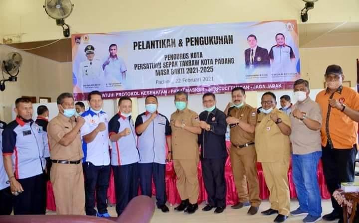 Hadiri Pengukuhan Pengkot PSTI Padang, Sekda Amasrul Harapkan Sepak Takraw Semakin Digelorakan
