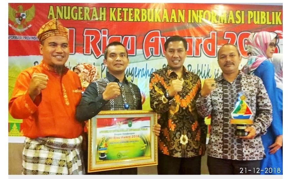 PPID Kabupaten Rohul Raih Juara III Anugerah KIP KI Award 2018