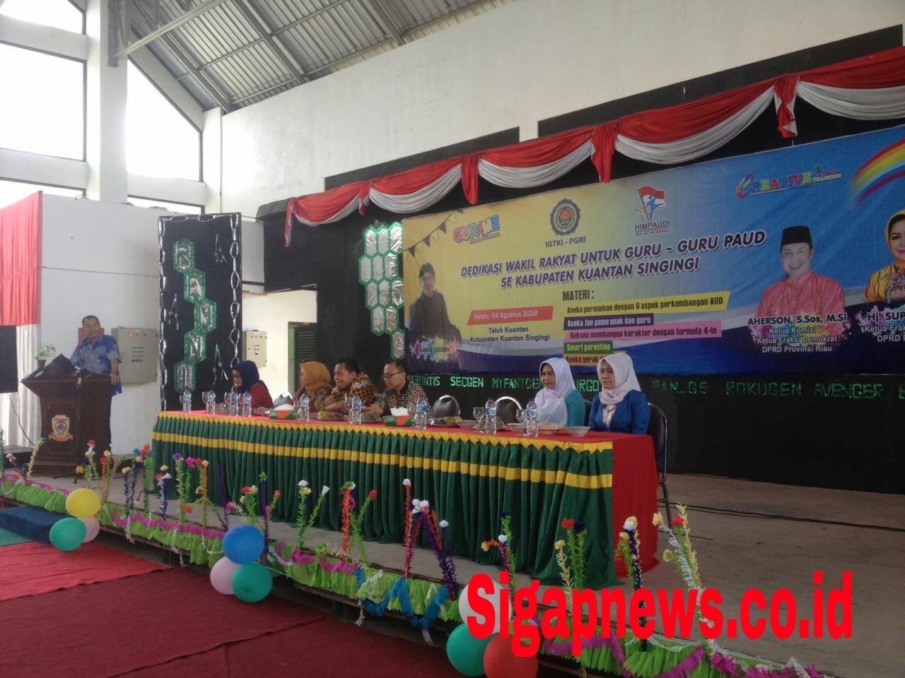 Sebanyak 790 Guru PAUD Kuansing Ikuti Pelatihan