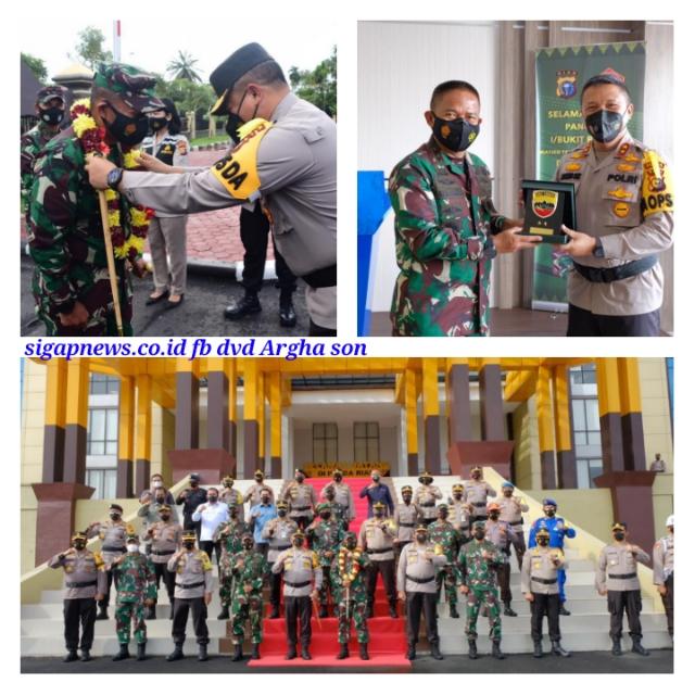 Kapolda Riau Terima Kunjungan Pangdam I/BB, Hassanudin: TNI dan Polri itu Simbiosis Mutualisme