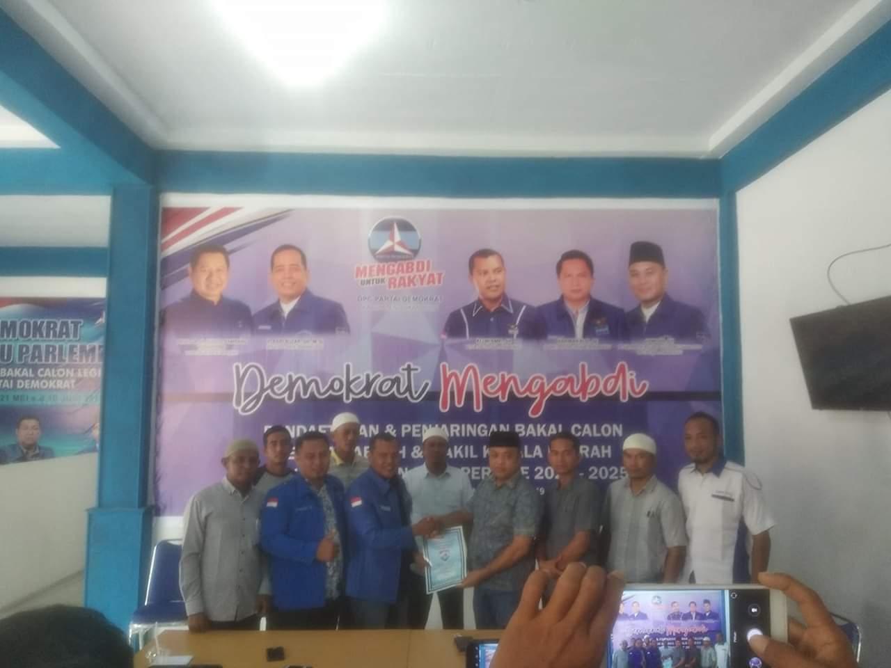Enam Balon Bupati Rohul Mendaftar Di DPC Partai Demokrat