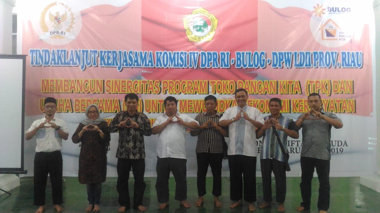LDII Riau Bangun Sinergitas Bersama Bulog Dirikan TPK dan RPK