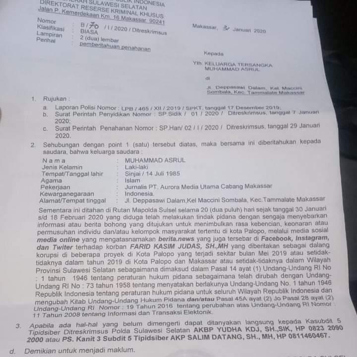 Hati-hati!, Pelanggaran Kode Etik Jurnalistik Berakibat Pidana